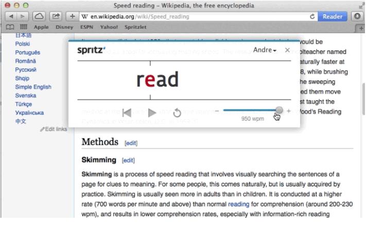 Spritz Read